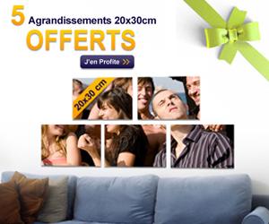 Extrafilm 5 agrandissements photos offerts 20 x 30 cm - Code promo photobox frais de port gratuit ...