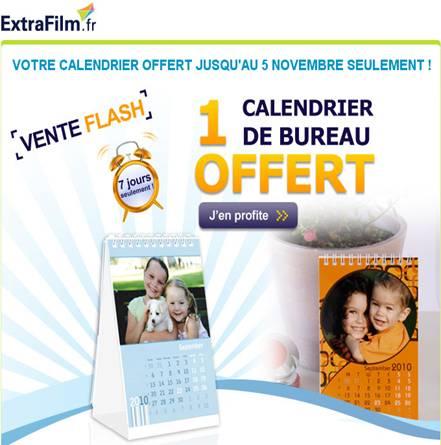 Extrafilm : Calendrier de bureau gratuit !