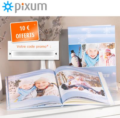 10 euros de réduction sur les livres photo personnalisées chez Pixum