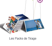 Packs de tirages photo