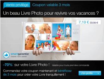 Offre limitée sur les livres photo : promotion -70%