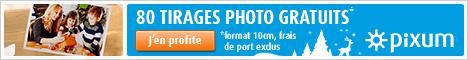 80 tirages photo gratuits avec Pixum ! Commandez ici !