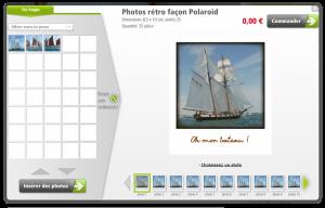 Vos photos Polaroid gratuites avec votre texte personnalisé, et à partir de vos photos numériques !
