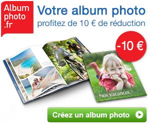 10€ de réduction sur votre livre photo