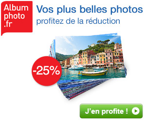 25% de réduction sur les tirages photo