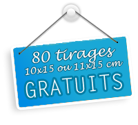 Je profite des 80 tirages photo gratuits chez ORANGE PhotoService