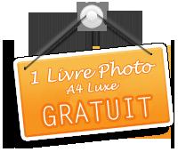 Je profite de l'offre PHOTOBOX : 1 livre photo luxe format A4 gratuit !