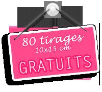 Je profite des 80 tirages photo gratuits chez Pixum