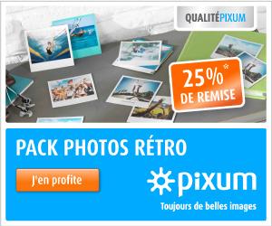PIXUM : 25% de remise sur les photos RETRO façon POLAROID