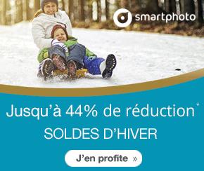Soldes d'hiver Smartphoto : -15% cadeaux photo, -20% Livres photo, -30% Calendriers, -44% sur les packs tirages photo