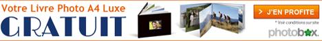 Photobox Livre Photo Luxe gratuit