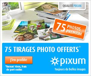 75 tirages photo gratuits ! Cliquez ici !