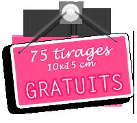 Je profite des 75 tirages photo gratuits chez Pixum