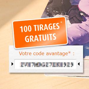 100 tirages photos gratuits dès 50 achetés par Pixum