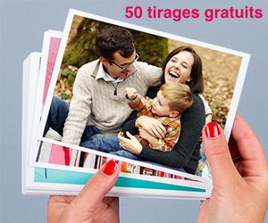 Recevez 50 tirages photo gratuits pour l'achat de 50 tirages !