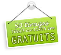 Je profite de l'offre PHOTOBOX : 50 tirages photo gratuits !