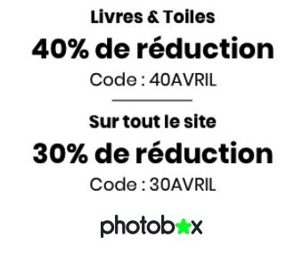 PHOTOBOX : Jusqu'à 40% sur les livres photo et les toiles photo