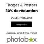 PHOTOBOX : Jusqu'à 30% sur les tirages et les posters !