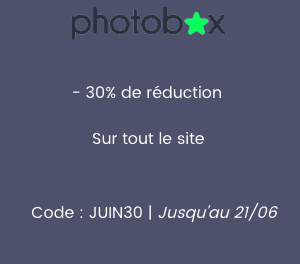 Photobox : 30% de réduction sur tout le site