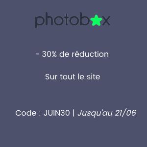 Photobox : 30% de réduction sur tout le site
