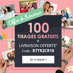 PHOTOWEB : 100 tirages photos GRATUITS !